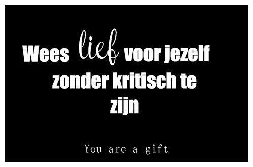 You are a gift inspiratiekaartje | You are beautiful | per 5 stuks