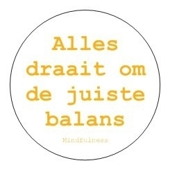 Sticker Mindfulness - Balans