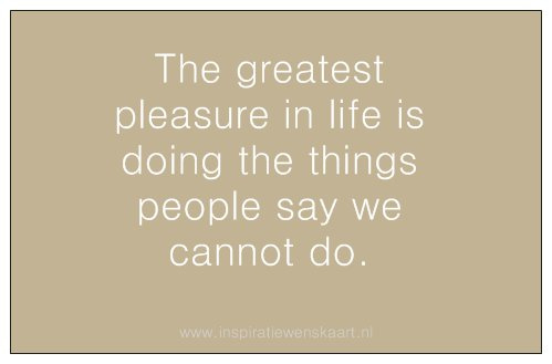 Heart in Business inspiratiekaartje | The greatest pleasure | per 5 stuks