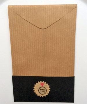 Cadeau zakjes leeg | Kraft | per 4 zakjes