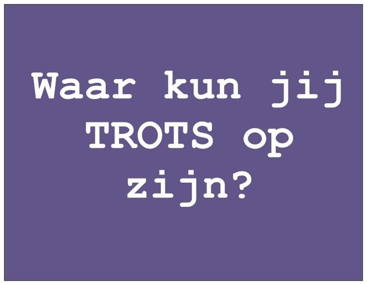 Wenskaart Talent - TROTS