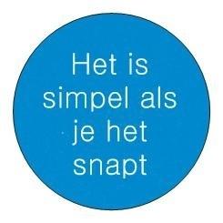 Sticker Inspiratie | Het is simpel