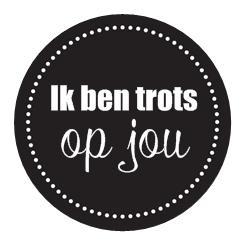 Sticker You are a gift | Ik ben trots op jou