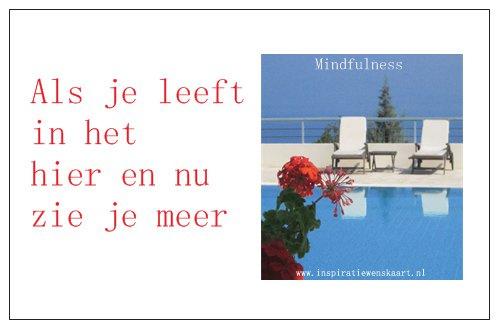 Mindfulness inspiratiekaartje   Hier en nu   per 5 stuks