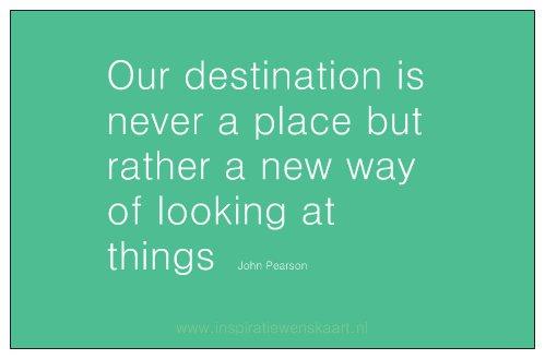 Heart in Business inspiratiekaartje | Destination | per 5 stuks