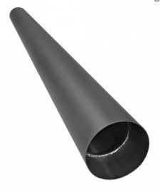 Kachelpijp 100 cm met condensring zwart / Ø 150mm
