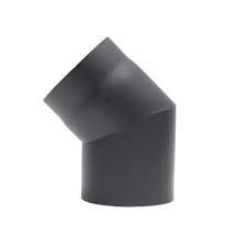 45 graden bocht zwart / Ø 150 mm