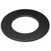 Rozet 3 cm zwart / Ø 120 mm