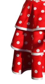 Hazel rood met grote stip