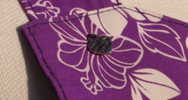 Hazel paars met grote stip