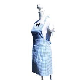 Audrey blauwe ruit