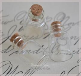 Mini flesjes bol met dopje. Per 5