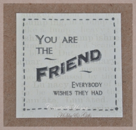 Vintage stickers You are the friend.....Per 5