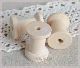 Mini houten klosjes blank. Per 5
