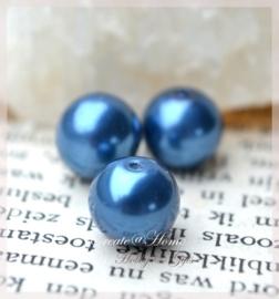 Glasparels donkerblauw. Per 10