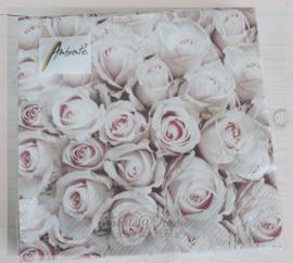 Servetten pastel roses. Per 10