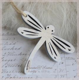 Libelle hout white wash. Per 4