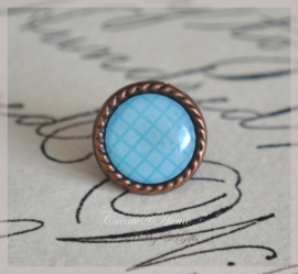 Brads splitpen koper blauw 8 mm