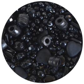 Zakje kralen zwart