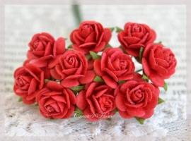 Mulberry roosjes rood. Per 10