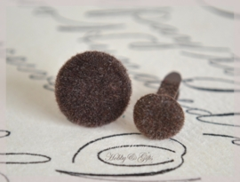 Brads splitpen stof bruin in 2 afm.
