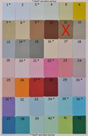 Pergamijn loonzakje met sleuteltjes in vele kleurtjes