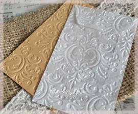 Bewerkte pergamijn & kraft loonzakjes, barok. Per 10