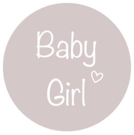 Stickers Baby Girl in vele kleurtjes. Per 10