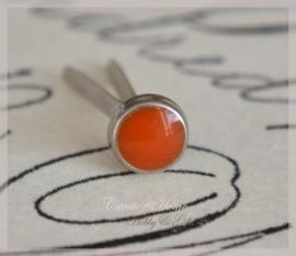 Brads splitpen zilver oranjerood 5 mm