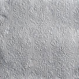 Servetten Barok Elegance silver in 2 afm. Per 5