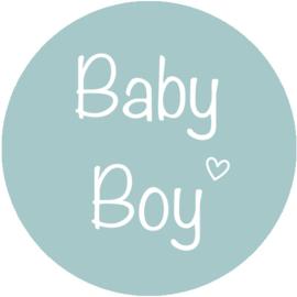 Stickers Baby Boy in vele kleurtjes. Per 10
