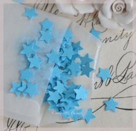 Pergamijn loonzakje gevuld met 100 mini sterretjes in vele kleurtjes