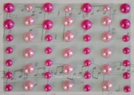 Plakparels roze mix. Per 50
