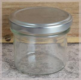 Glazen jampotjes met draaidop. Per 3
