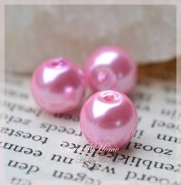 Glasparels roze. Per 10