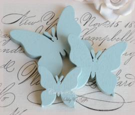 Houten vlinders lichtblauw