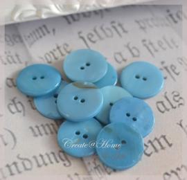 6 kunststof knoopjes blauw
