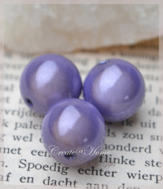 Miracle beads paars. Per 10