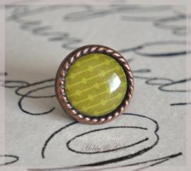 Brads splitpen koper groen/geel 8 mm