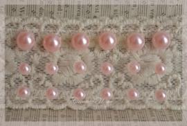Kunststof plakparels roze parelmoer