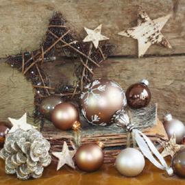 Servetten kerstsfeer in 2 afm. Per 10