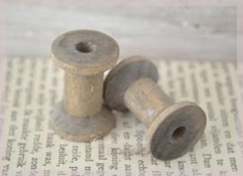 Mini houten klosjes old grey. Per 4