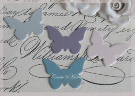 Vlindertjes karton. Per 5