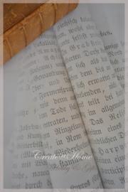 Linnen karton met vintage afbeelding. Per stuk