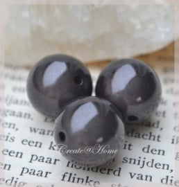 Miracle beads antraciet. Per 10