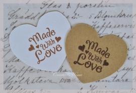 Stickers hartje met of zonder stempel, keuze uit 14. Per 10