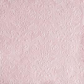Servetten Barok Elegance pale pink in 2 afm. Per 5