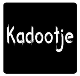 Schoolbord stickers mat zwart Kadootje. Per 10