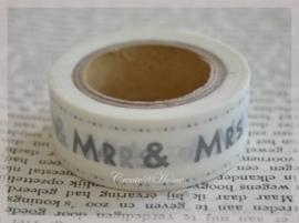 Masking tape Mr & Mrs