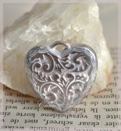 Bedel hart metal look wit/zilver. Per 5